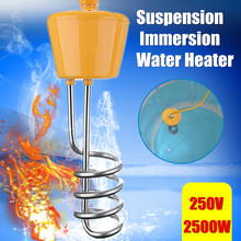 В 220 Вт 2500 В плавающий водонагреватель элемент для ванной плавательный бассейн с термометром коррозионная устойчивая безопасность