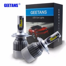 72W 6000 Pure White H4 H7 H13 H11 H1 HB1 HB4 HB5 9006 9007 COB LED Headlight Car LED Headlights Bulb Head Lamp Fog Light  BJ