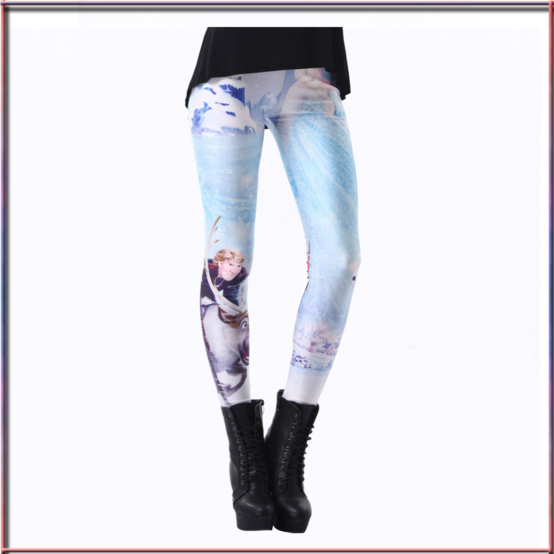 f23e0aa72fc7f Character Animation Figures Beautiful Leggings 3D Digital Print Elsa Womens  Ladies Cartoon Leggings Fitness Pants Hot Sale-in Leggings from Women's  Clothing ...