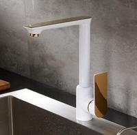 Luxury Elegant White And Gold Kitchen Bathroom Vessel Sink Mixer Tap Swivel Cozinha Torneira Plumbing Sanitary