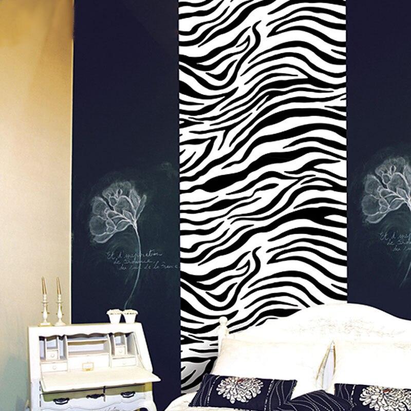 zebra slaapkamer pvc zelfklevende behang papel tapiz de parede murais auto adesivo vinyle sticker armoire zwart wit in zebra slaapkamer pvc zelfklevende