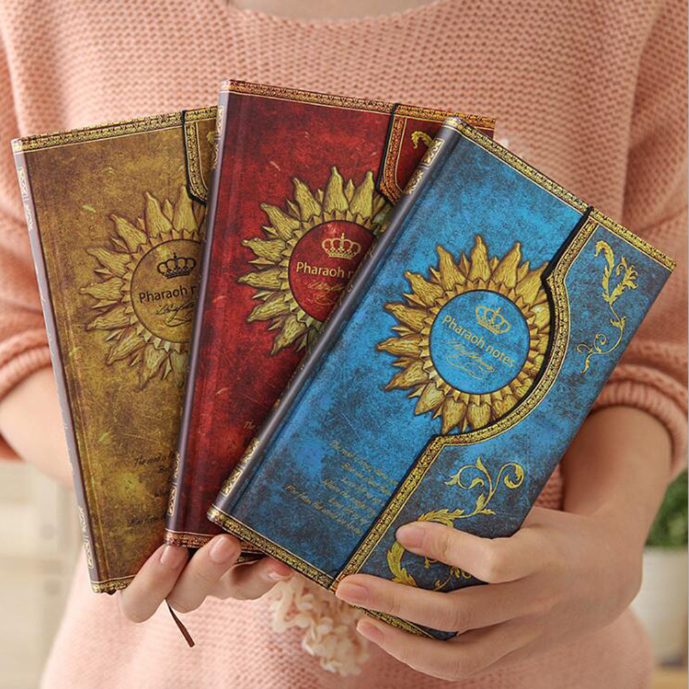 Novelty Vintage Magic Notebook With Line Inner Pages School Student Schedule Organizer Diary Pharaoh Notes Planner Book new arrival weekly planner thumb girl notebook creative student schedule diary book color pages school supplies no year limit