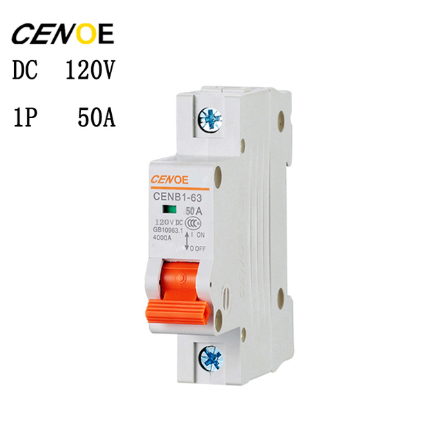 The latest cenoe brand 1p 50a dc 120v circuit breaker din rail mcb the latest cenoe brand 1p 50a dc 120v circuit breaker din rail mcb circuit breaker 50a publicscrutiny Image collections