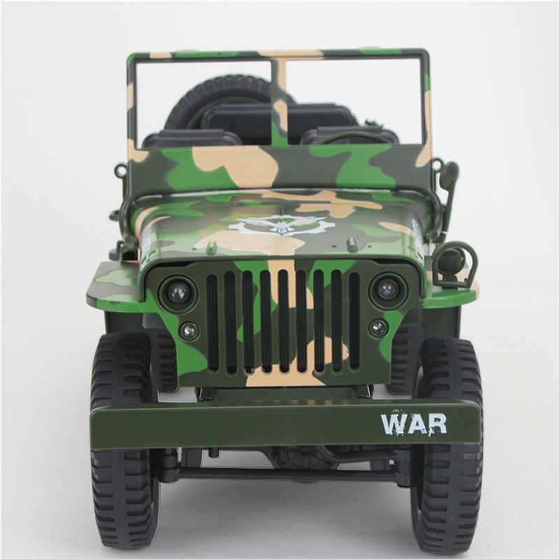 Eachine EC01 1/10 2.4G 4WD RC Mobil Jedi Transporter Kamuflase Militer Truk Rtr Mainan