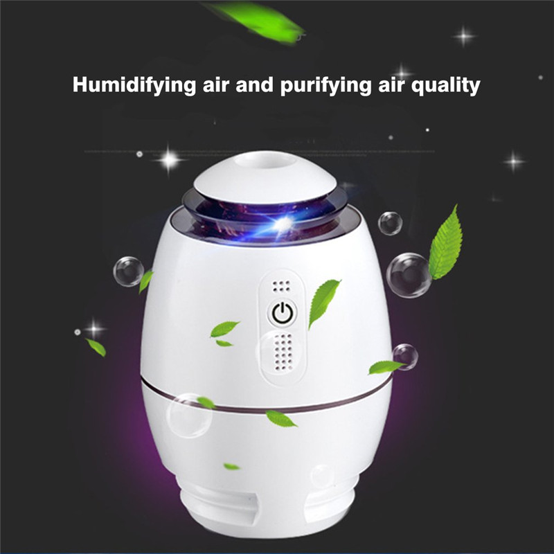 200ml Ultrasonic Cool Mist Humidifier Mini USB Air Humidifier Aroma Diffuser Essential Oil Diffuser With LED Night Light 2017 new 200ml capacity egg shape ultrasonic humidifier with changing led night light diffuser aroma oil mist maker air freshner