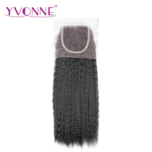 YVONNE Brazilian Kinky Straight Virgin Hair Closure 4×4 Free Part Human Hair Lace Closure Natural Color Free Shipping