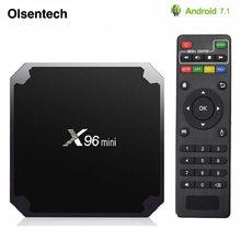 Android 7.1 CAIXA de TV Inteligente X96 mini 2 GB/16 GB TVBOX X 96 mini Amlogic S905W H.265 4 K 2.4 GHz WiFi Media Player X96mini Caixa Android