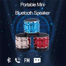 Portable Metal texture Mini Bluetooth Speakers with TF Card Music Surround Wireless Sound Subwoofer Stereo Loudspeaker UM