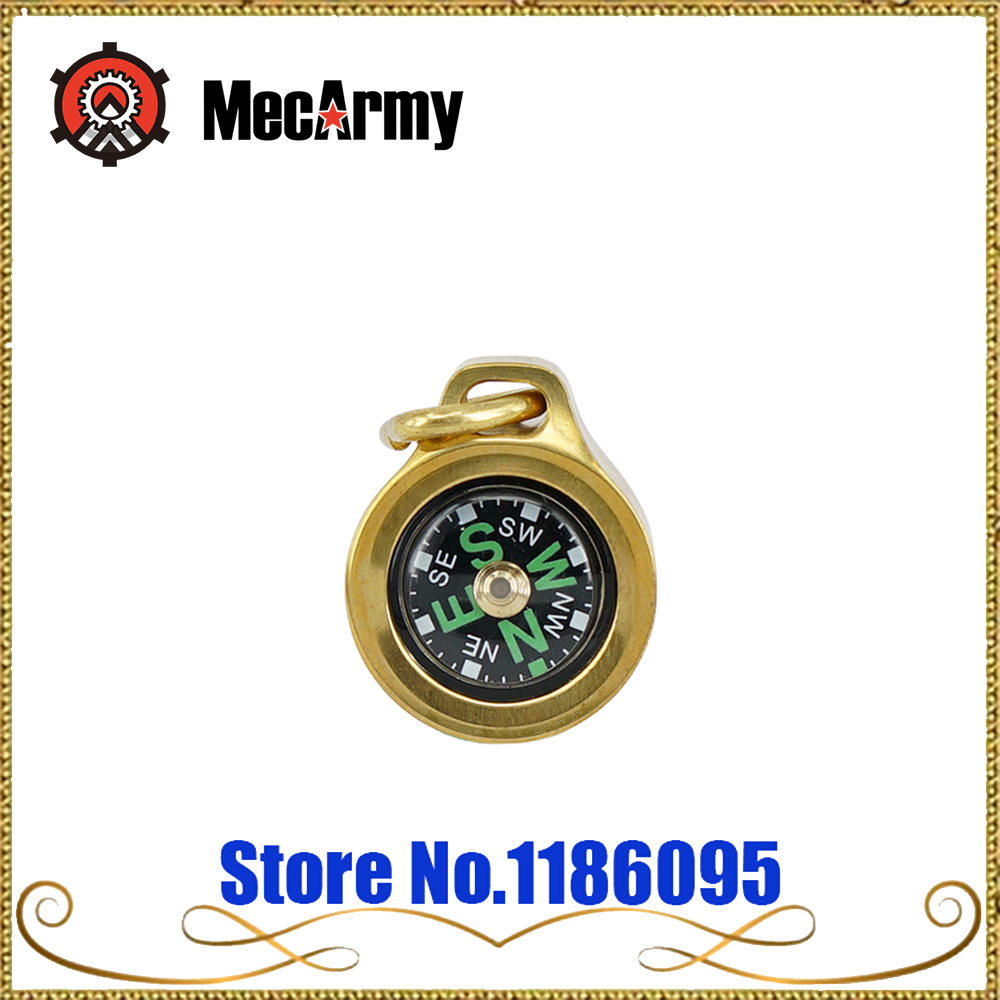 MecArmy CMP B Keychain outdoor tool Compass Compass titanium / brass direction identity Compass