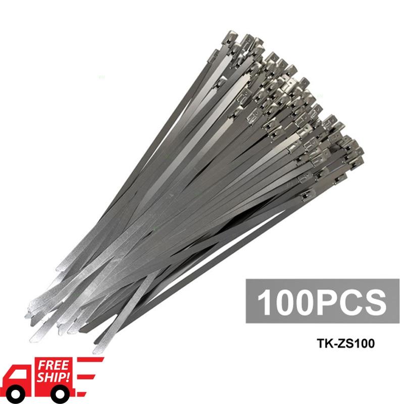 Epman 100x Stainless Steel Metal Cable Ties Zip Straps Exhaust Heat Wrap 4 6mm X 300mm Ep