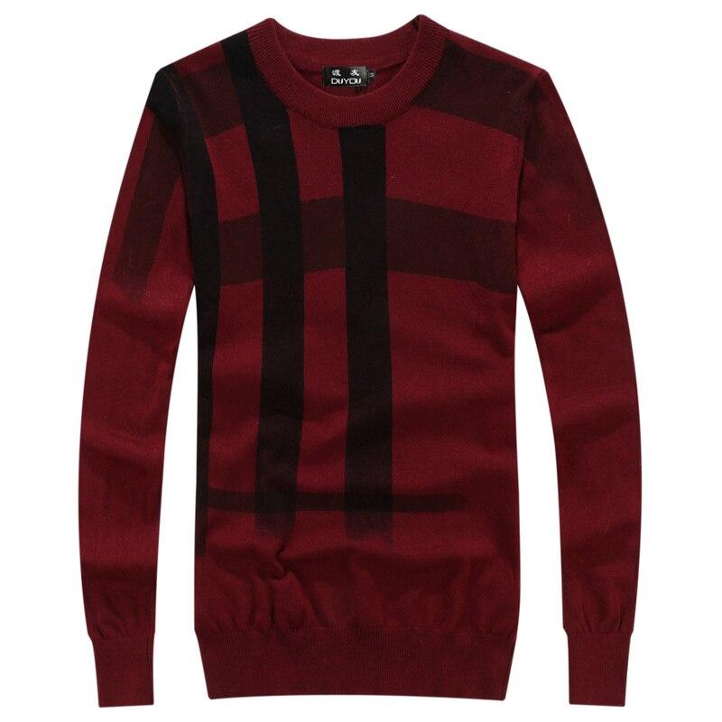 Одежда высшего качества Для мужчин сращивания принт пуловер, Рождественский свитер в британском стиле ретро Для мужчин s бренд Повседневно... - 4