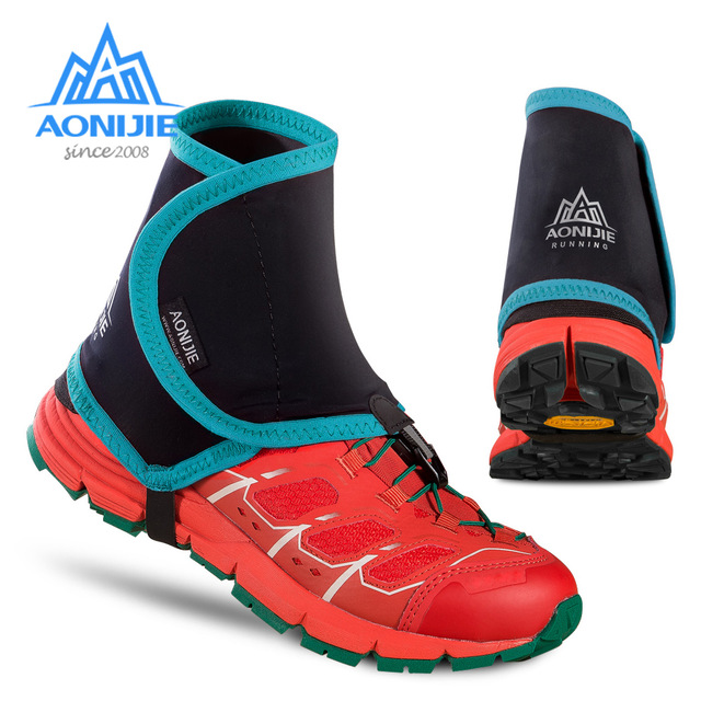 Aonijie Low Trail Running Gaiters Protective Wrap Cycling Shoe Covers Pair for Men Women Outdoor Prevent Sand Stone sahoo 45516 outdoor cycling sunproof polyester sleeves covers black white pair xxl