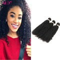 8A Grade Indian Virgin Hair 3 Bundles Kinky Curly Double Machine Weft Real Remy Hair Afro  Indian Kinky Curly Hair