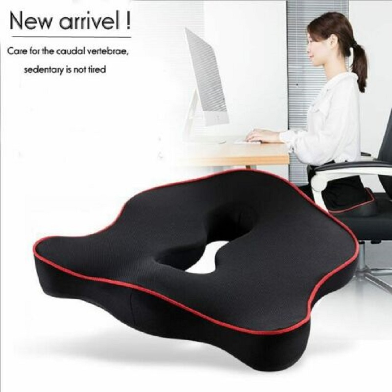 Seat Cushion Memory-Foam Office-Chair Coccyx Orthopedic Car Premium Pain-Relief