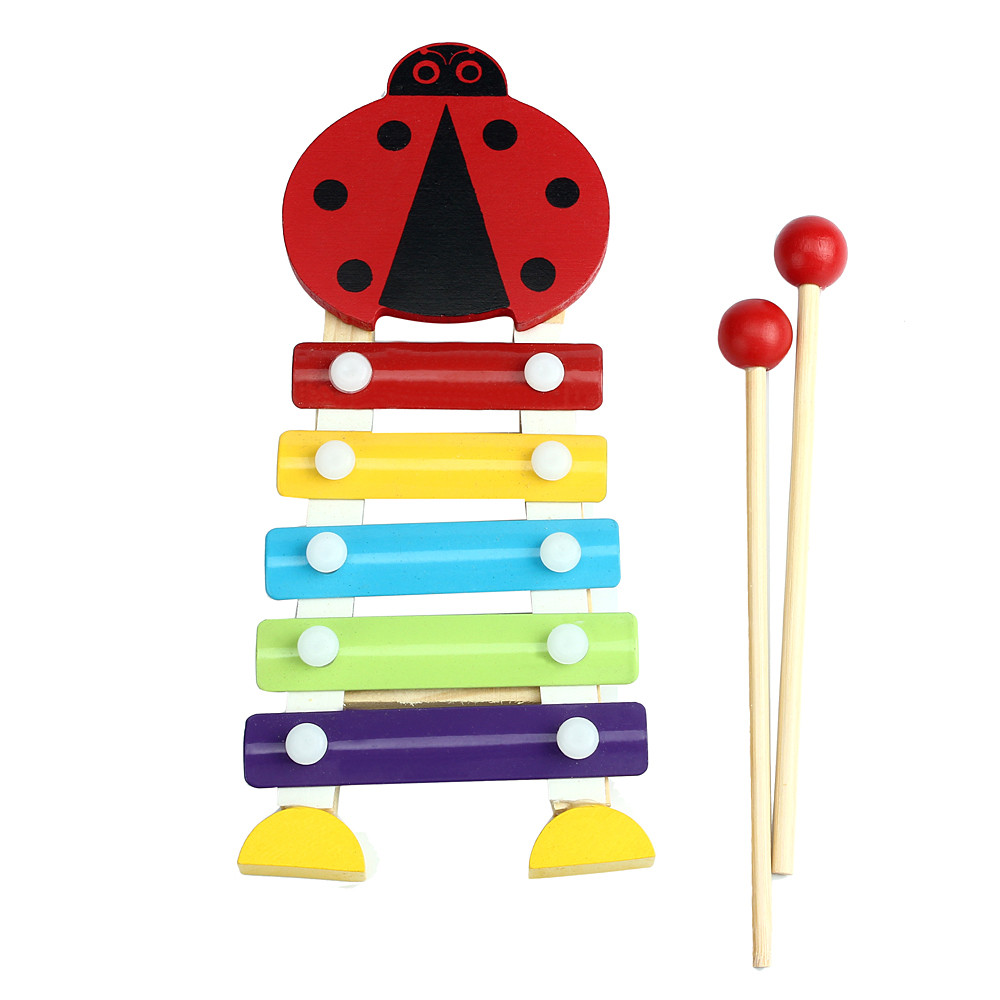 5-NoteWooden Musical Toys Teaching Aid Child Early Educational Wisdom Development Music  ...