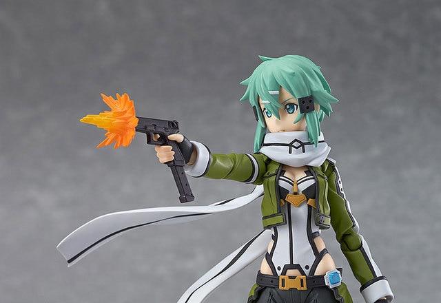 Huong Anime Figure 15 CM Sword Art Online Asada shino Figma 241 PVC Action Figure Collectible Model Toy 5