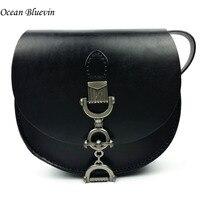 Hot Sale Fashion Women Luxury Genuine Leather Shoulder Bag Semi Elliptical Messenger Crossbody Bags Female Lady