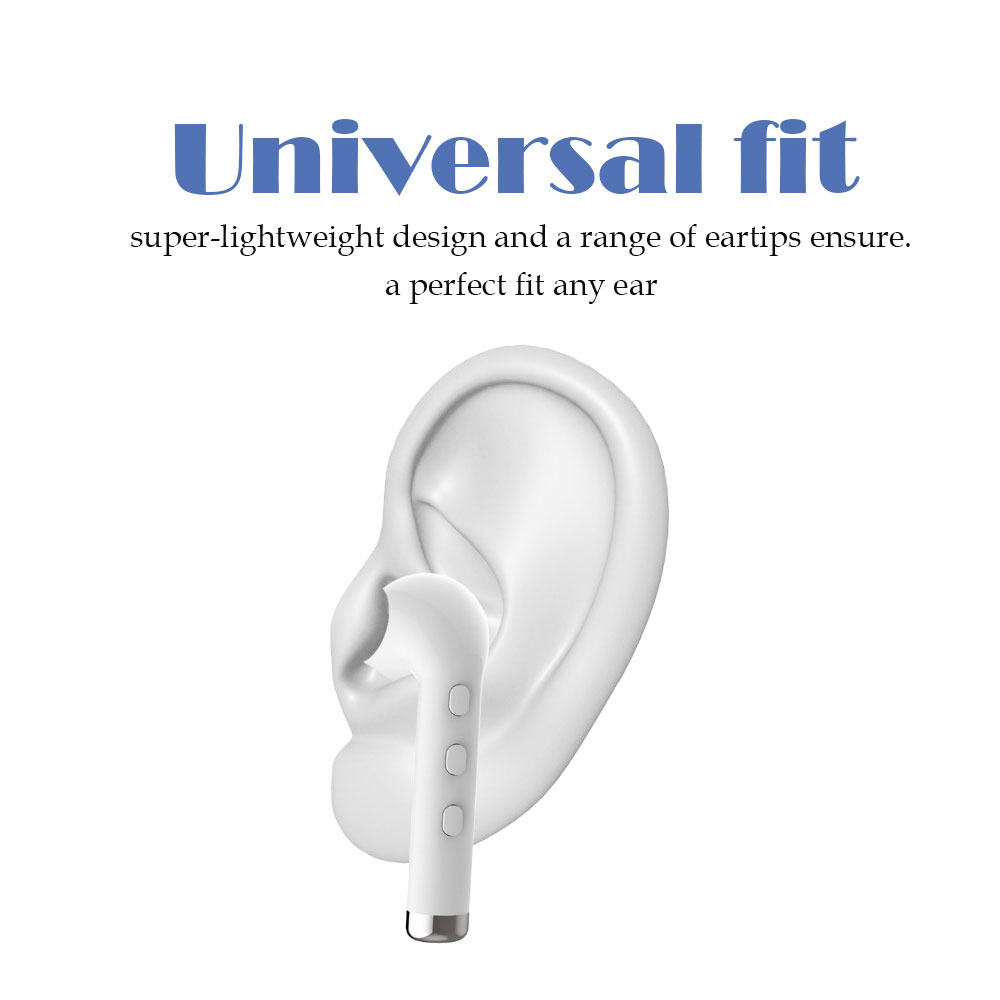 I8L Mini Bluetooth Earphone Single Ear-Hook Wireless Invisible Headphones Headset With Mic Stereo Earplugs For iphone X 8 8plus