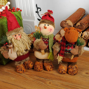 stuffed santa claus snowman moose props large decorations