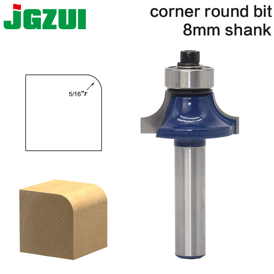 1pcs 8mm Shank Wood Router Bit  Round Over Edging Router Bit Radius - 8