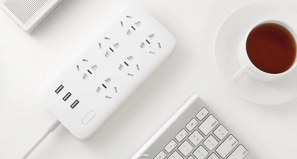 XIAOMI MIJIA Smart Power Strip 2A Fast Charging 3 USB Extension Socket Plug 6 Standard Socket Adapter 1.8m 100% Original (10)