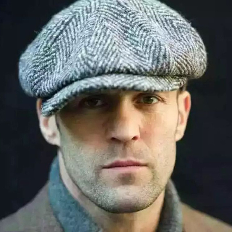 Men British Style Octagonal Hats Winter Wool Hat Gatsby Cap Ivy Hat Golf Driving Autumn Women Cotton Flat Cabbie Newsboy Caps