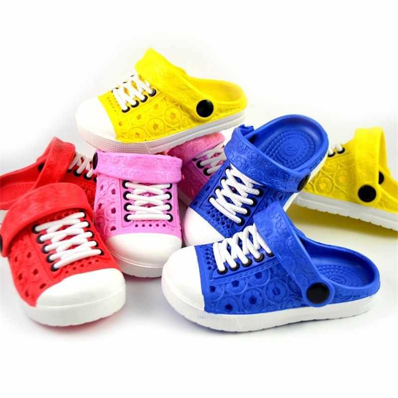 1-5 años bebé niños zapatillas de playa niños Unisex bebé niños zuecos zapatos niñas sandalias jardín zapatillas arrastre para