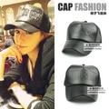 New Fashion Summer Unisex Snapbacks Black Leather Letters Mesh Peaked Cap Baseball Caps Male and Female Sun Hat For Men Women