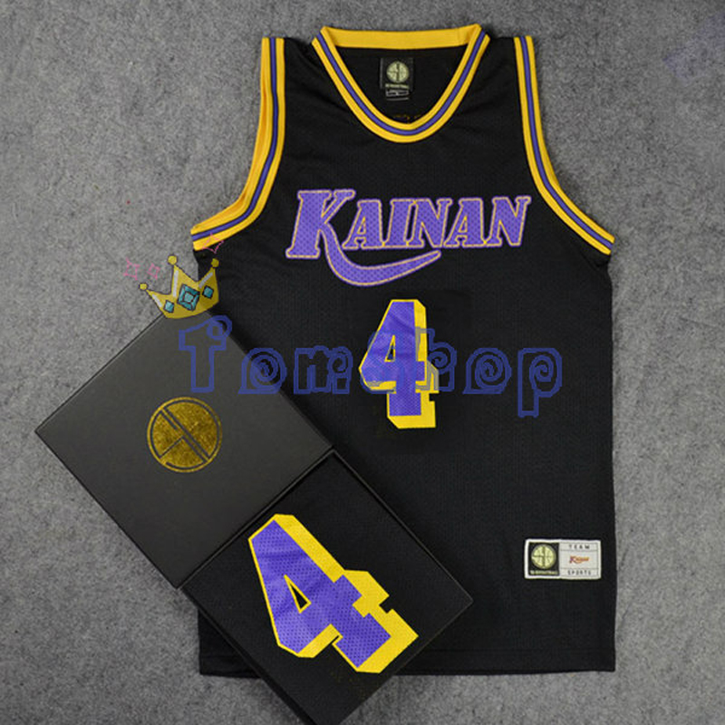 Anime SLAM DUNK Kainan Point Guard #4 SHINICHI MAKI Cosplay Guest Black Basketball Jersey Tops Shirts Sports Wear Team Uniform