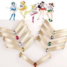 Anime Cosplay Sailor Moon Tsuking Usagi Sailor Mars Chibi Jupiter EVA Headwear Headband Tiara Hair Clips цена