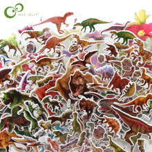 20sheets/lot Bubble Stickers 3D Jurassic Dinosaurs Classic Toys Scrapbook Strawberry For Kids Children Gift Reward Sticker WYQ(China)