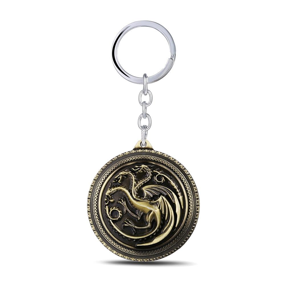 MS JEWELS Game of Thrones Key Chain House Targaryen Bronze Metal Key Rings Gifts Chaveiro Keychains