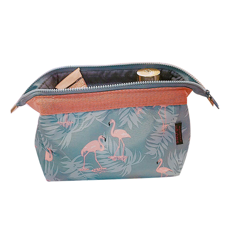 New Fashion Floral Printed Cosmetic Bag Women Makeup Bags Female Zipper Cosmetics Bag Portable Travel Make Up Pouch Organizer 1pcs urinal gogirl go girl woman urination device 9 5cm stand up pee fud camping travel portable female tiolet