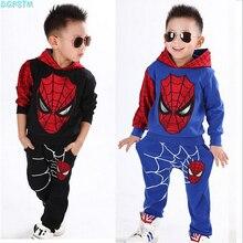 2017 printemps automne vêtements de trolls nouveaux enfants Spiderman Costume Spiderman Costume Spider-Man costume enfants pull ensemble