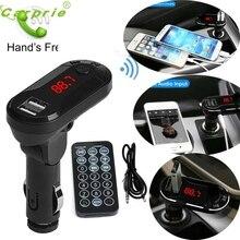 Bluetooth Беспроводной fm-передатчик MP3 плеер Handsfree Car Kit USB TF SD удаленного NV7 Горячая Мода HOTHOT дропшиппинг