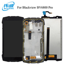 WEICHENG For Blackview BV6800 Pro Lcd 100% Tested Lcd Display with Touch Screen Digitizer With Frame Assembly Replacement Parts