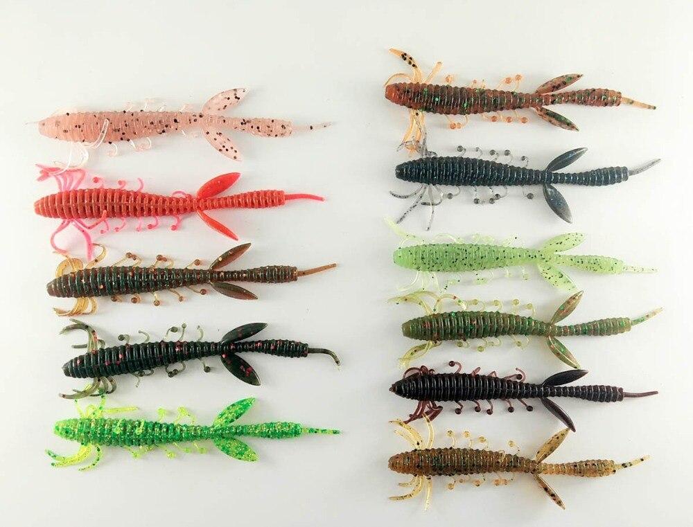 BassLegend- Fishing Soft Craw Creature Bait Bass Pike Perch Soft Lure Shrimp 100mm 3.5g/75mm 1.5g