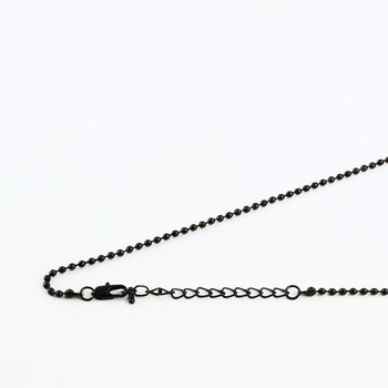 "Ball Beads Necklace Chains Links With Square Clasp 5cm Extender 16-40"" Free nickel 9 Colors 1.2/1.5/2.4/3.2mm Copper Metal"