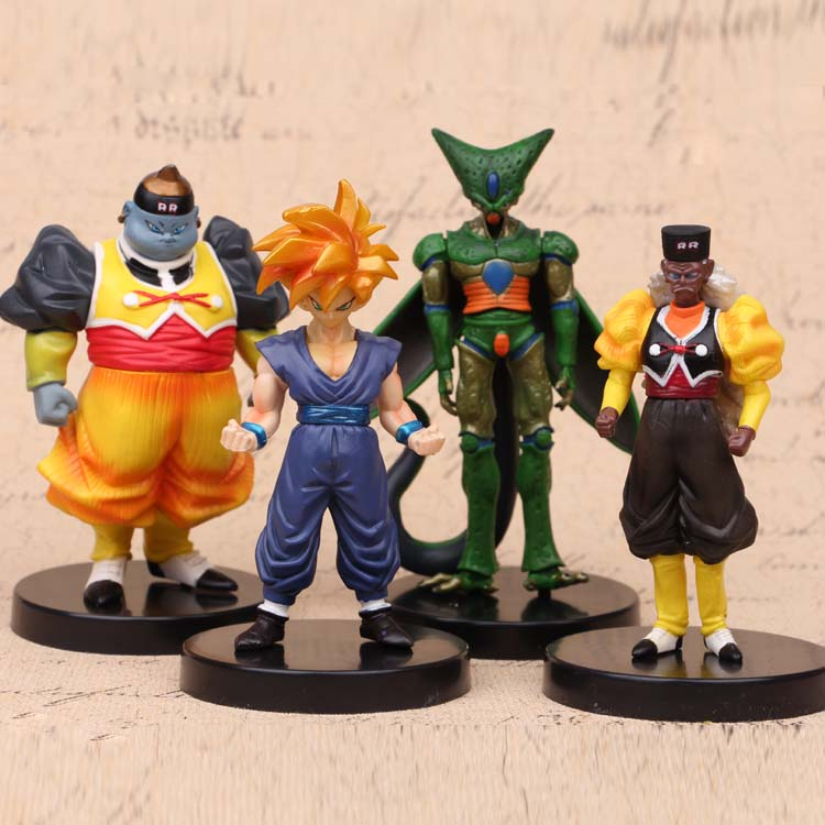 NEW hot 13cm 4pcs/set Dragon ball Super Saiyan Son Goku Dr.Gero Cell Son Gohan Android action figure toys collection Christmas 4pcs new for ball uff bes m18mg noc80b s04g