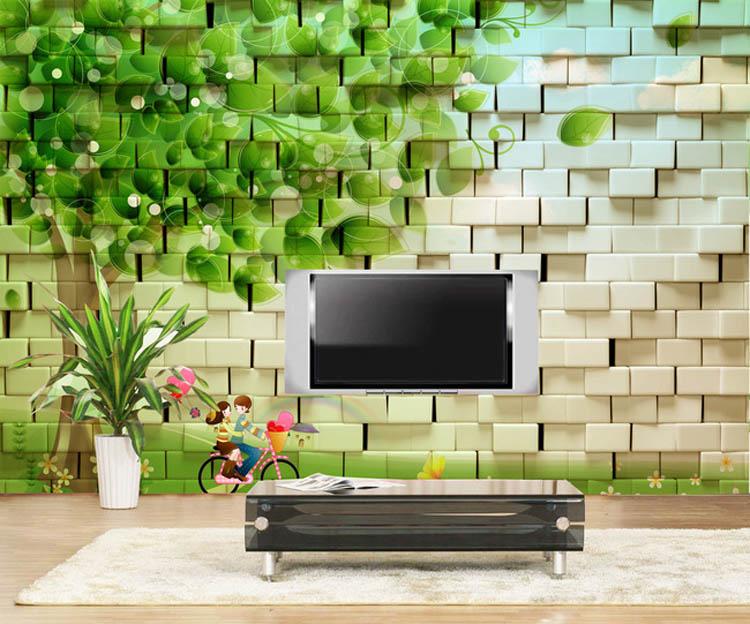 Free Shipping living room sofa TV background wall mural wallpaper 3D modern minimalist living room wallpaper