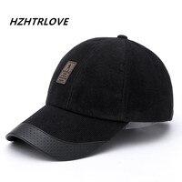 High Quality 1Piece Baseball Cap Women Men Adjustable Cap Casual Corduroy Hats Solid Color Fashion Snapback