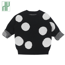 Kids sweaters Dots baby girl sweaters Winter autumn 2018 Outerwear knitted Long Sleeve Casual pullover boys sweaters 1 3 7 Years vinnytido boys jumper winter sweaters children kids knitted pullover warm outerwear pure cotton