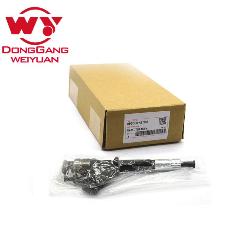 High Quality common rail parts 095000 8100 Injector for Denso For Heavy Truck HOWO For nozzle DLLA158P984/DLLA152P1052