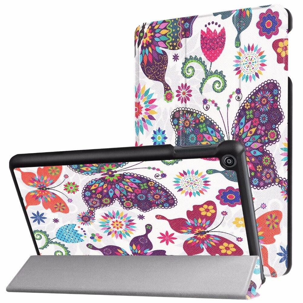 Caso para el nuevo Amazon fuego HD 8 Tablets (7th generación, 2017 versión solamente) -ligero Delgado Conchas soporte cubierta con soporte