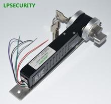 LPSECURITY güvenli 24VDC/12VDC 5 satır elektrikli yuvarlak sürgü kilit manuel tuşları erişim kontrol sistemi için elektrikli sürgü