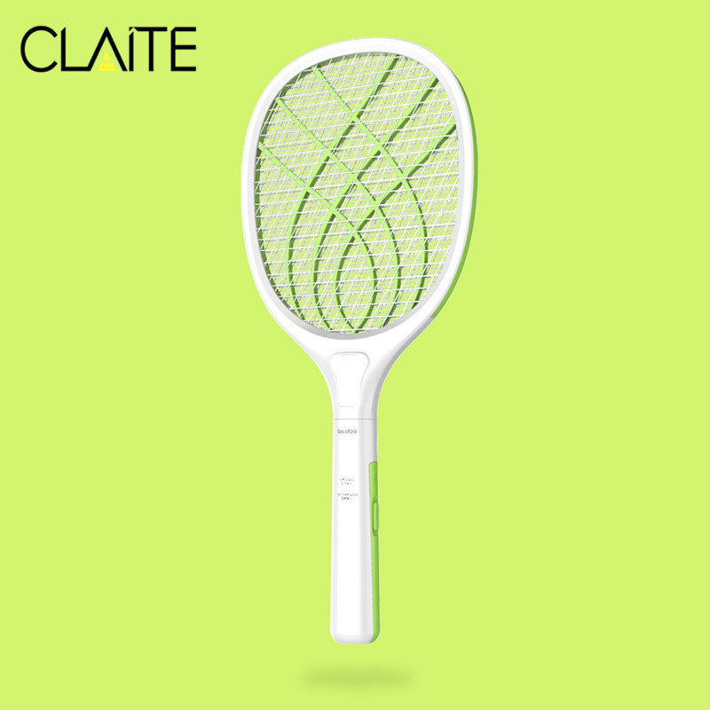 CLAITE 110-220V USB Electronic Mosquito Swatter LED Home Use Mosquito Killer Racket Fly Insects Bug Zapper Repellent Lamp