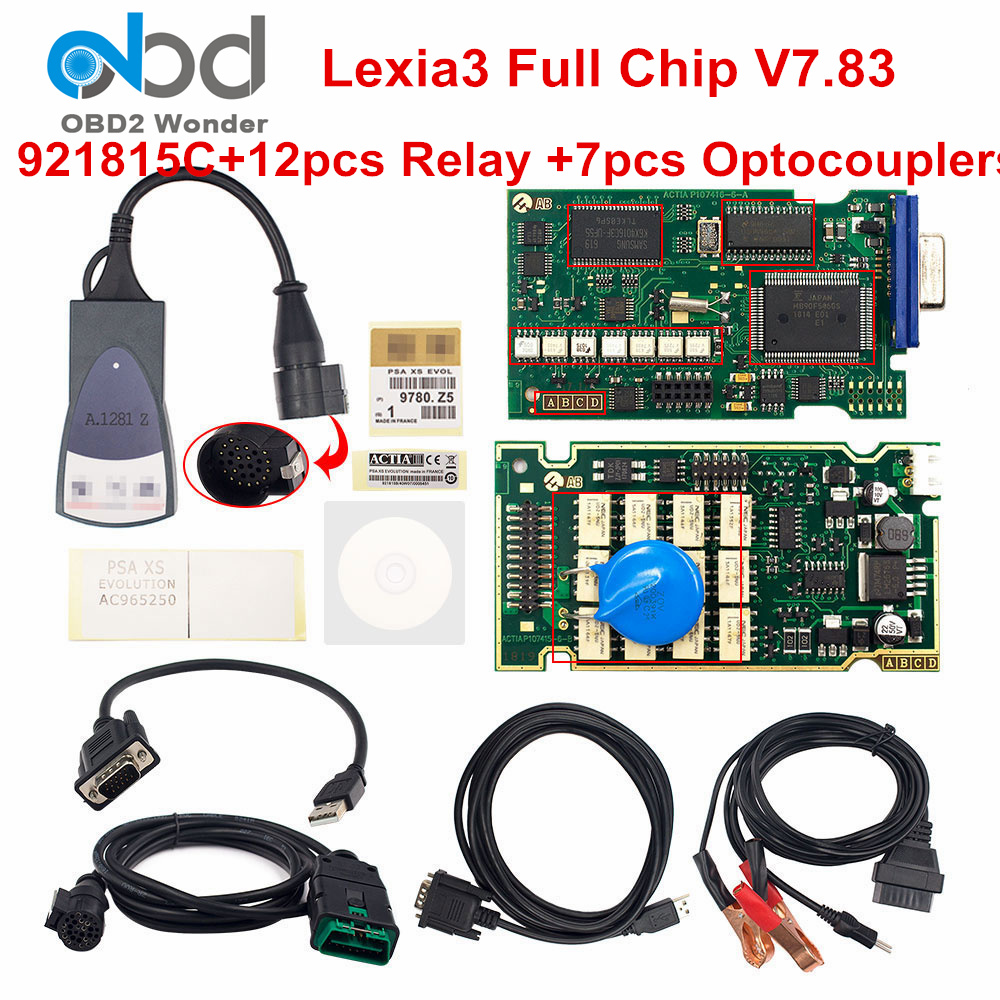 Best Lexia3 Full Chip 921815C Lexia 3 PP2000 Diagbox V7.83 Car Diagnostic Scanner For Peugeot For Citroen Cars Lexia 3 Auto Tool