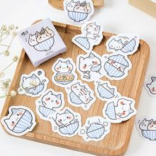 45 Pcs/lot Cute Kawaii Cat Paper Decorative Adhesive Stickers Cartoon DIY For Diary Ablum Decoration Scrapbooking Stickers(China)