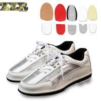 Профессиональная обувь для боулинга унисекс, правая и левая, противоскользящая подошва, кроссовки из натуральной кожи, дышащая Яркая обувь