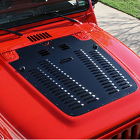 Engine bonnets hood cooling radiator intake vents Bug Shields decorative spyder cover for jeep wrangler Exterior Accessories